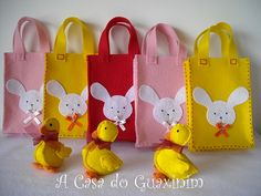 Sacos da Páscoa / Easter bags | acasadoguaxinim.blogspot.com… | Flickr