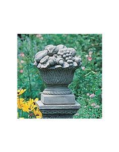 Small Fruit Basket Garden Statue