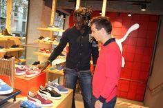 Journée shopping avec Bafé Gomis