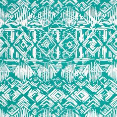 """Vintage Tiki Huts on Spearmint Cotton Spandex Blend Knit Fabric - A white vintage style tiki hut design on a darker mint green background color cotton spandex rayon jersey blend knit.  The fabric is light to mid weight, with a nice 4 way stretch, soft hand, and good drape.  Diamond designs measure 1 3/4"""" (see image for scale). A versatile fabric great for many different uses!  ::  $6.30"""