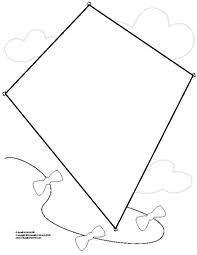 kite template google search more kite template toddler crafts kid ...