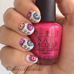 Manicure with stamping. Polishes used @sensationailsuomi #whitelily flowers with @opi_finland Push & pur-pull, You're pisa work, Can't find my czechbook, You are so outta lime! @zoyanailpolish Arizona, @chinaglazeofficial Don't make me wine. Stamping plate @bornprettystore L005. Stamping polish Essence #projectodeunas #floralnail #floralnails #floralnailart #pushpurpull #youaresoouttalime #cantfindmyczechbook #yourepisawork #retronails #dottingtool