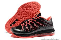 Black Total Crimson Nike Air Max Lebron 10 Low 579765 001 Outlet
