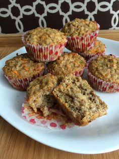 Carrot Cake Oatmeal Boobie Muffins for #breastfeeding #nursing mamas to Support Healthy Lactation!  via go ahead and snicker: Milk Maid