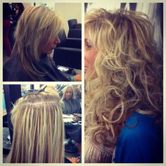 Before and after Great Lengths Extension. For a consultation please call 856-751-2233