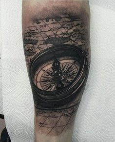 Compass tattoo - 100 Awesome Compass Tattoo Designs  <3 <3