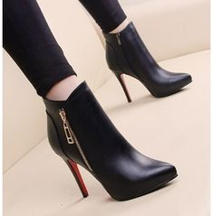 37 Trendy high heels for your perfect look this winter - # for ., - 37 Trendy high heels for your perfect look this winter – # for …, - High Heel Boots, Bootie Boots, Shoe Boots, Ankle Boots, Boot Heels, Shoes High Heels, Women's Booties, High Heels Outfit, Black Heel Boots