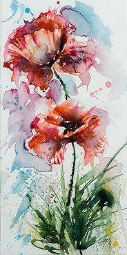Картинки по запросу Рисуем акварелью: дворик в цветах