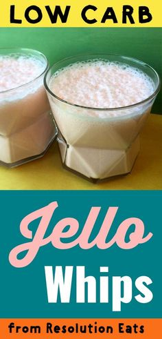 This is a popular recipe for low carb Sugar-Free Jello yogurt whips. It's a quick and easy dessert or snack with only 35 calories and net carbs per serving. Sugar Free Desserts, Low Carb Desserts, Low Carb Recipes, Diet Recipes, Sugar Free Jello Keto, Recipies, Low Sugar Snacks, Diabetes Recipes, Healthy Recipes