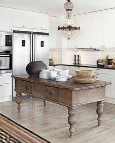 99 Inspirations Vintage Farmhouse Style Kitchen Island