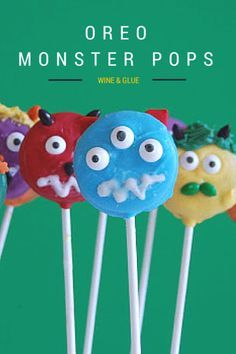 Get creative with these easy to make OREO Monster Pops. Kids will have so much fun decorating them!