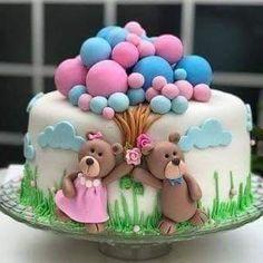 Happy Birthday Wishes Cake, Baby Birthday Cakes, Cake Decorating Frosting, Cake Decorating Videos, Beautiful Cakes, Amazing Cakes, Fondant Cakes, Cupcake Cakes, Tout Rose