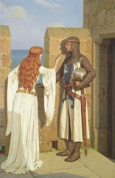 LARGE SIZE PAINTINGS: Edmund Blair LEIGHTON The Shadow