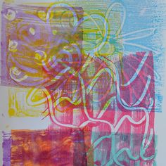 Art with Kids: Simple Monoprints with Tempera Paint