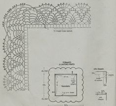 lo spazio di lilla: Schemi di bordi crochet con angoli, utili per copertine e tovagliette / Crochet edges with corner useful for baby blankets and placemats, free patterns