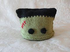 Hand Knitted Frankensteiin Baby Hat  Halloween by CottonPickings