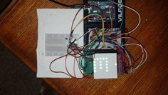 Arduino 8x8 RGB LED Matrix Controller with 4 Shift Registers and Temperature Sensor