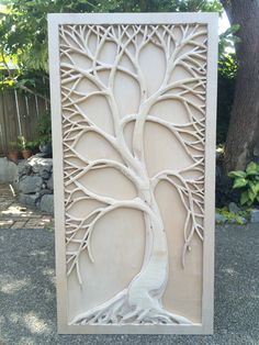 2'x4' wood carving