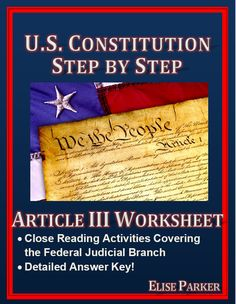 My classes go through the entire Constitution every year, but these worksheets make the activity a lot more than a dry read where the teacher explains everything as the students look on with glazed expressions. NOW, the students discover Constitutional principles on their own as a first step, which makes for a much more lively discussion when we go through the answers. #constitution #usconstitution #articleiii #primarysource #criticalthinking #americanhistory #ushistory #americanrevolution