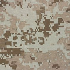 """Muted Digital Camo Cotton Jersey Knit Fabric - Muted colors of olive green, beige, neutral taupe digital style camouflage design on a cotton jersey knit. Fabric has a small stretch and is light to mid weight. Pattern repeat measures 12 1/4"""" (see image for scale). :: $6.50"""
