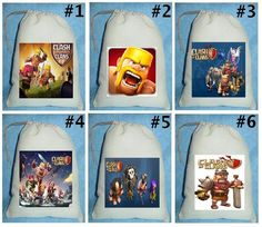 12 Clash of Clans birthday party favor loot treat drawstring
