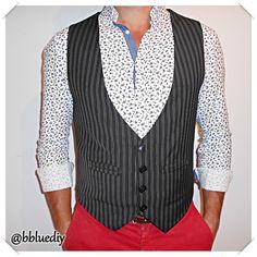B. Blue: Chaleco para él / Men's vest