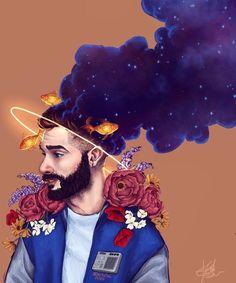 Jon Bellion Tattoos, Jon Bellion Artwork, Human Bean, Beautiful Mind, Beautiful Boys, Music Artwork, Lowbrow Art, Pop Surrealism, Music Covers