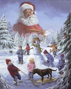 Santa's Watching.... by Ralph McDonald..... $90.00 17 x 22 Signed & numbered Edition of 10000 Paper shipping included in price