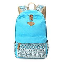 Vintage Girls School Bags for Teenagers Cute Schoolbag Printing Canvas Casual Bag School Backpack Rucksack Bagpack Book bags