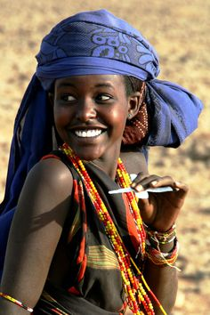 What a beautiful woman with a lovely smile.