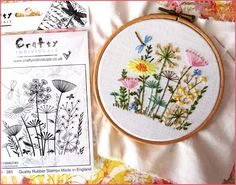 Stamps and Embroidery - Crafty Individuals Stamp