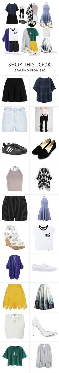 """""""~Draft Number Three~"""" by julzisbaek ❤ liked on Polyvore featuring Alexander Wang, Uniqlo, River Island, adidas, STELLA McCARTNEY, Michael Kors, GUESS, Illustrated People, Vans and Temperley London"""