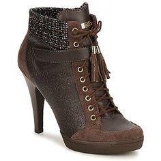 http://www.cuponescodigos.com  Botines Guess INVER Marrón - Entrega gratuita con Spartoo.es ! - Zapatos Mujer 144,00 €