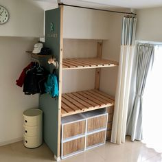 Interior examples such as / rental DIY / buttermilk paint / storage DIY / futon storage …- – Furnishings Paint Storage, Diy Storage, Diy Organization, Carpentry Projects, Home Projects, Diy Cardboard Furniture, Japanese Interior, Diy Interior, Home Decor