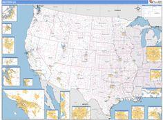 Western US Regional Wall Map MAP QUEST Pinterest Wall Maps - Us western map