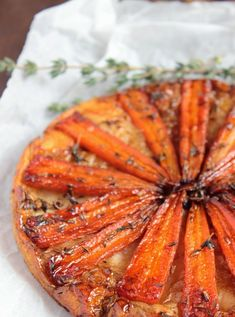 Food Photography: Carrot tarte tatin and whipped feta Carrot Recipes, Veggie Recipes, Vegetarian Recipes, Cooking Recipes, Healthy Recipes, Vegetarian Tart, Vegetarian Cooking, Whipped Feta, Savory Tart