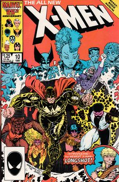X-Men Annual 10 - Chris Claremont, Art Adams and Bob Wiacek - Cover by Art Adams, Terry Austin and Dan Crespi - First appearance of Longshot