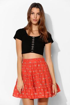 Kimchi Blue Felina Tiered Mini Skirt. I got a 10% off coupon at UO and love this skirt, but it's just too expensive to justify. :'(