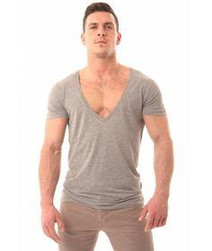 Paddy O'Brian - FYTA Extreme Deep V Neck Tshirt Heather Grey