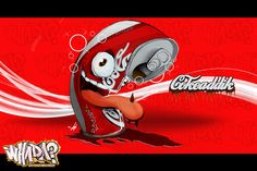 Whatda?! Cokeaddik illustration and Clothing line on Behance