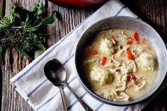 Oxtail Soup with Parmesan Herbed Dumplings