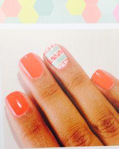 #nail #orange