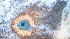 While Everyone was seeing this amazing hole from the bottom with this aerial view we can see inside the eye of the earth. Is amazing with how many colours the earth could draw. Photos Of The Week, Aerial View, Landscape Photography, Travel Photography, Earth, Colours, Draw, Amazing, Nature