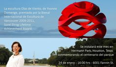 La obra Wind Waves, creación Yvonne Domenge estará en la conmemoración por los 100 años del Hermann Park en Houston.