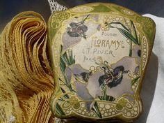Art Nouveau Powder Box Floramye L.T Piver Paris by LadyDeParis, $88.00