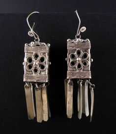 Earrings from the Hmong tribe from the golden triangle in Asia