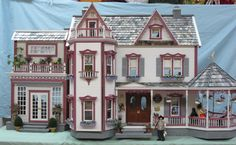 A modified Harborside Mansion Dollhouse - kit available at Real Good Toys