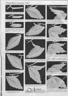 Irish crochet leaf tutorial