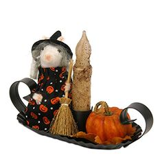 Byers Choice 2015 Fall Open House Halloween Mouse Witch with Candle >>> Continue to the product at the image link.