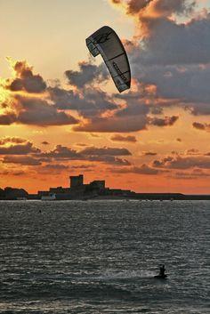 Kite surf sur la baie de St Jean de Luz